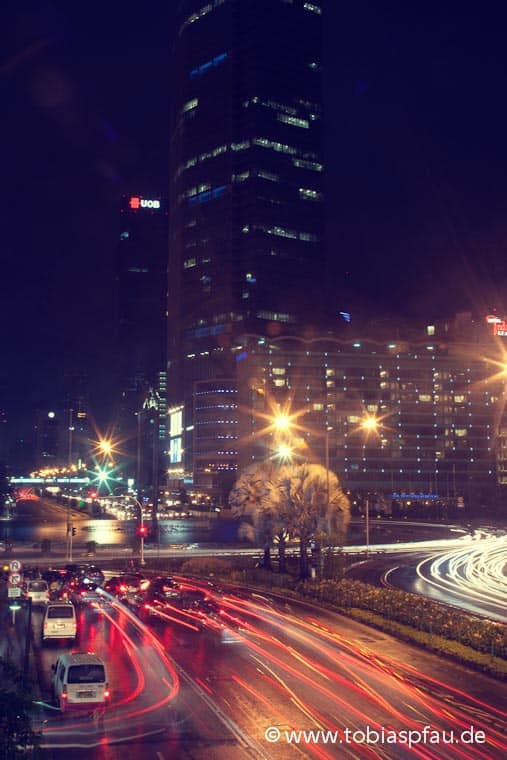 Jakarta traffic at Night