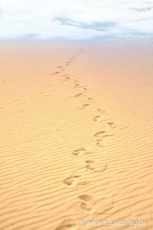 wpid7076 IMG 0092 n2Foot Prints on the Sand Dune Fraser Island