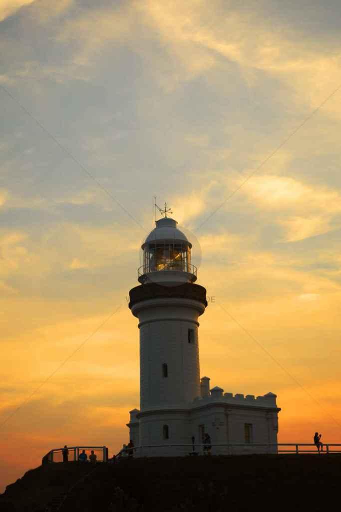 tpfau IMG 8271x Light House during Sunset Byron Bay