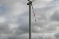 Energie Windrad im Sturm