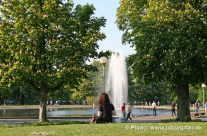 Erholen, sonnen im Park