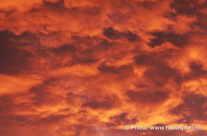 rote Wolken am Himmel