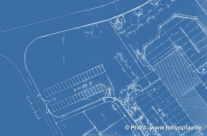 Bauplan, Technische Zeichnung als Hintergrund