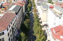 Allee in der Stadt Stuttgart