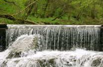 Natürliches Gewässer Schlichem nähe Epfendorf