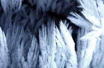 Eis Kristalle -15 Grad
