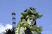 Venedig grüne Maske